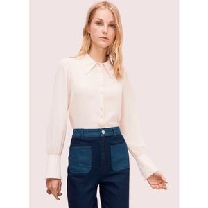 Kate Spade pointed blouse like new xs